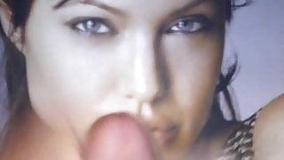 Cum over Abgelina Jolie