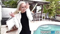 PropertySex - Hot blonde real estate agent fucks rich dude