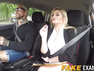 Young learners and adult learners - Busty driving examiner katy jayne bouncing on learners dick