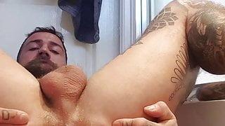 OF - Gareth Hulin tattooed muscle bodybuilder ass play