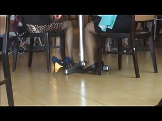 Airport asian world Candid asians sexy shoeplay feet in nylons at airport