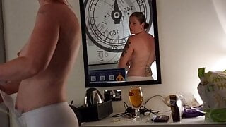 Mom and step son share hotel room shecgets naked