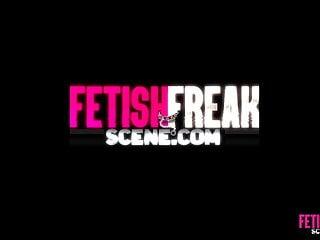 Hot sex 2 girls 2 hot girls 3 huge dildos for tabby in fetish freak scene
