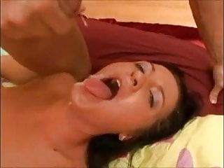 Orgasms in slow motion - Facials in slow-motion
