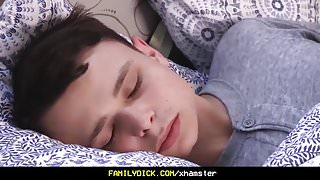 FamilyDick- Cute tiny bottom boy woken up by sexy daddy cock