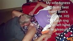 Gangbang on friends whore wife