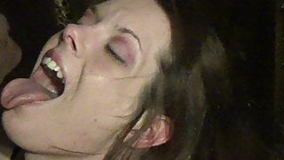 amateur brunette wife gets fucked and eats bbc cum