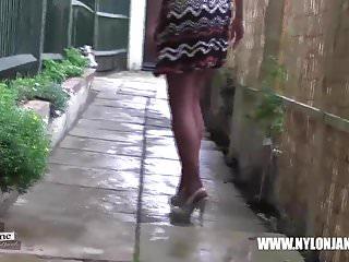 Sexy milf in suspenders - Milf nylon jane teases in nylons suspenders and high heels