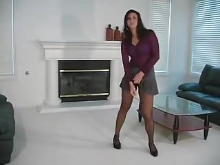 Femdons fetish wear Ava wearing pantyhose wants you to stroke for her