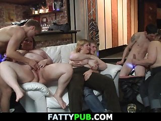 Chubby redhead gets it from behind Chubby party girl gets screwed from behind