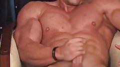 Bodybuilder cumshot