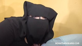 Busty Muslim woman spreads her legs for medical test