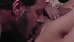 Big titty Christina Angel gets cum on tits after vintage sex