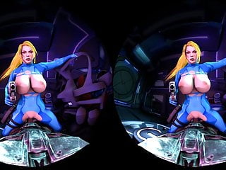 Porn hub women fighting Samus cowgirl put up a fight - vr porn video