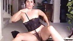 Hairy Mature Leslie Strips