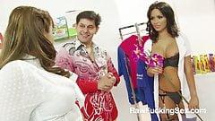 Raw Fucking Sex - Hotties Gemma Massey And Valery In Foursom