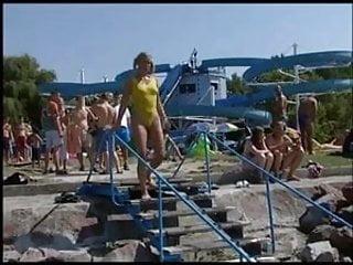 Designer yellow hipster bikini bottoms with colored waitband - Anal in yellow bikini