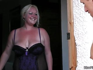 Sex with the neighbors porn Great sex with blond-haired bbw neighbor