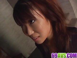 The last sex act Saya natsukawa blows cock until the last drop of jizz