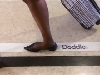 Erotic shoe fetish Shoe fetish - following nigerian milf in very pointy flats