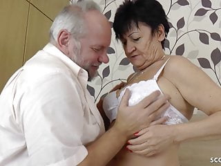 Quick time cum movies - German granny and grandpa in first time porn movie