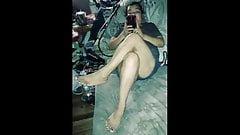 Married mexican bbw fucked while holding feet up.