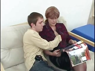 Mature shags Sexy milf bitch shags with her sons young friend by troc