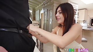 Lucky tutor gets schooled in fucking by his student Audrey