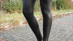 cutie showing off in her leggings