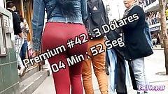Candid Spandex Jeans Shorts Voyeur Premium 041-045
