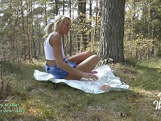 Pantyhose with wicked weasel Miley weasel enjoys herself and was cought in public