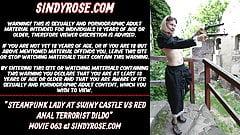 Дама в стимпанке в свином замке против красного анального террориста
