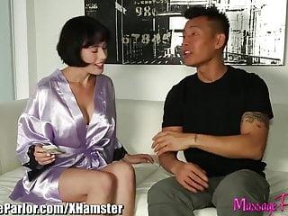Asian masseuse parlor - Massage parlor horny masseuse sucks asian cock