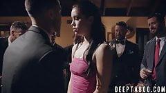 Pretty slut submits to big dick at secret society meeting