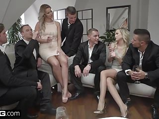 Glamkore Vinna Nikky Take On Five Guys For A Group Fuck