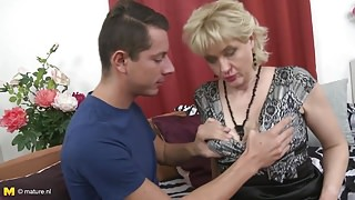 Taboo home sex with busty mother and stepson