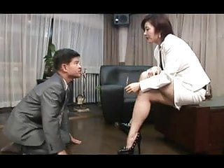 Cigarette smoking asian Asian foot femdom smoking with cigarette holder