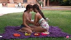 Pussy Pleasers Abigail Mac N Ariana Marie In The Backyard!
