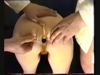 Silicon resin medical prosthesis facial French mature gets her medicine from two doctors