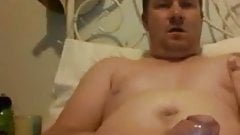 Hot chunky stroking watching porn