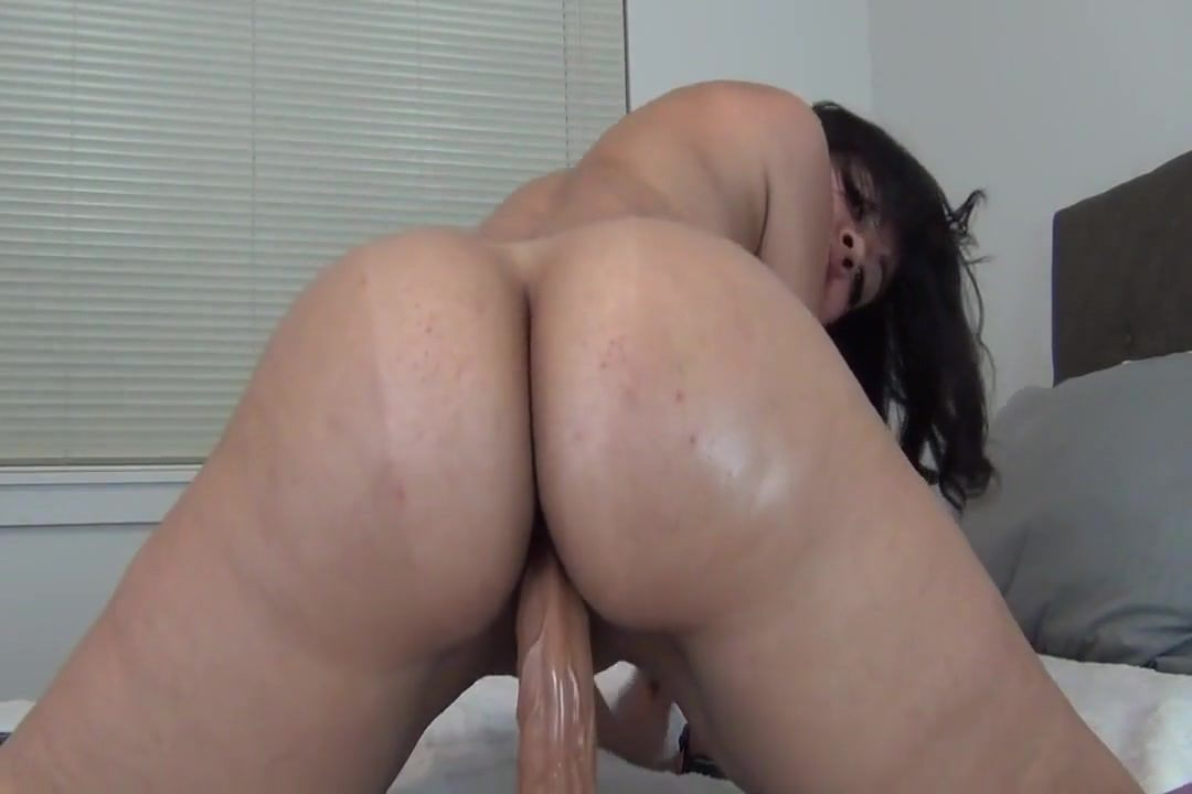 Big Ass Riding Dildo Public