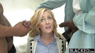 BLACKED - 2 Big Black Dicks for Rich Girl Emily Kae