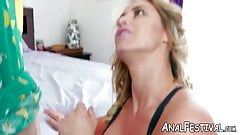 Bubble butt blonde MILF Eva Notty reverse cowgirl pounded