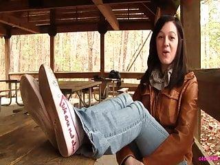 Custom fetish video xxx - Kat shoeplay with vans sneakers custom sock