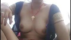 Beautiful wife from Bihar films herself fingering