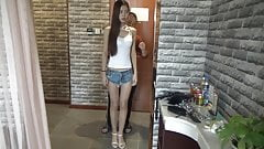 Su Mei Small Vest Denim Shorts (asian-bondage.com)