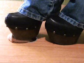 Clogged breast duct - Crushing slave cock with jessica simpson high heel clogs