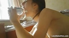 Deep throat anal cum