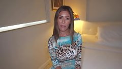 sexy latin milf gets caught sexting by step-son