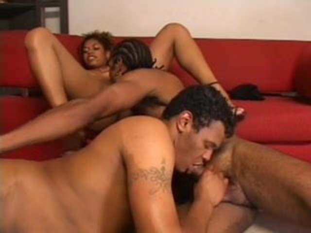 Ebony Big Booty Anal Threesome